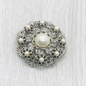 Vintage Victorian Pearl Wedding Brooch